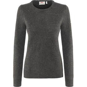 Fjällräven Övik Structure Sweater Damer, dark grey